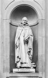 Statue des Heiligen Antonio in Florenz Lizenzfreies Stockfoto