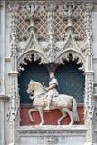 Statue des Heiligen Joan des Lichtbogens in Blois Stockbild