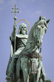 Statue des Heiligen Stephen, Budapest Lizenzfreie Stockfotografie