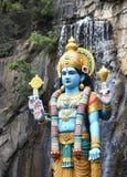 Statue des hindischen Gottes Krishna, Batu-Höhle, Kuala Lumpur, Malaysia Stockfotografie