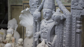 Statue des hindischen Gottes Krishna Gopala Handwerk und Künste von Indien MU Stockfotografie