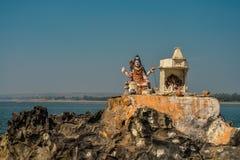 Statue des hindischen Gottes Vishnu Stockfoto