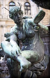 Statue des Hygieia-Brunnen Brunnens Lizenzfreie Stockfotografie