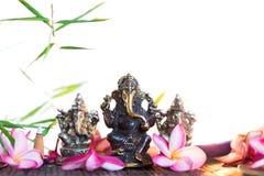 Statue des indischen Hinduismus-Gottes Ganesha von Klugheit und von Wohlstand a stockbilder