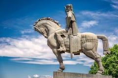 Statue des Königs stockfotos