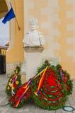 Statue des Königs Carol I lizenzfreie stockfotos