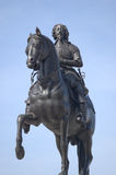 Statue des Königs Charles I, Trafalgar Quadrat, London Lizenzfreies Stockbild