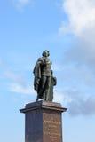 Statue des Königs Gustaf III. Stockfotografie