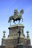 Statue des Königs John von Sachsen in Dresden Stockfotos