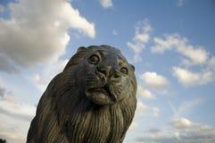 Statue des Kopfes eines Löwes Stockbilder