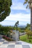 Statue des Läufers in Achilleions-Palast in Gastouri, Korfu-Insel in Griechenland Stockfotos