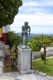 Statue des Läufers in Achilleions-Palast in Gastouri, Korfu-Insel in Griechenland Lizenzfreie Stockbilder