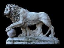 Statue des Löwes in Florenz Stockfotos