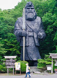Statue des Leiters am Shiraoi Ainu-Dorf Lizenzfreie Stockbilder