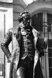 Statue des Mannes in Schwarzweiss Lizenzfreies Stockbild