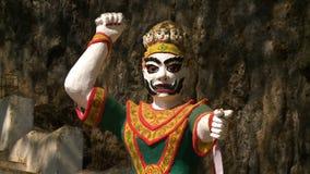 Statue des mystischen Charakters stock video