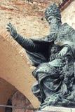 Statue des Papstes Julius III, Perugia, Italien Stockfotografie