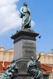 Statue des polnischen Dichters Adam Mickiewicz Stockbild