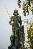 Statue des Ritters Bruncvik auf Charles-Brücke Lizenzfreie Stockfotos