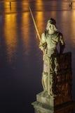 Statue des Ritters Bruncvik auf Charles-Brücke, Prag, Tschechische Republik Stockfotografie