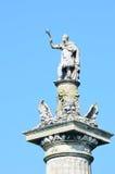 Statue des Sieges auf Spalte Lizenzfreies Stockbild