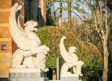 Statue des tigres Winged photographie stock libre de droits