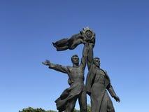 Statue des travailleurs russes et ukrainiens Image stock
