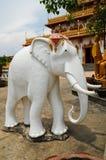 Statue des weißen Elefanten Stockbild