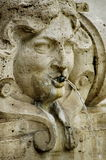 Statue detail - Rome, landmark attraction in Italy. Detail of a fountain in Rome, landmark attraction in Italy Stock Photos