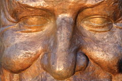 Bronze Statue in the sunset - Herastrau Park, Bucharest, Romania Stock Photography