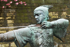 Robin Hood. Statue of Robin Hood in Nottingham, UK Royalty Free Stock Image