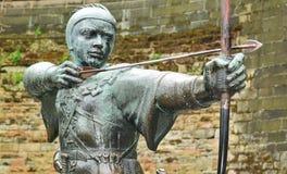 Robin Hood. Statue of Robin Hood in Nottingham, UK stock photo