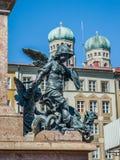 Statue detail in Marienplatz in Munich Bavaria. Statue detail in Marienplatz Munich, Bavaria, Germany Stock Photography