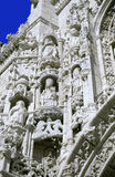 Statue detailed wall. Entrance wall to St. Jeronimos monastery in Belem, Lisbon, Portugal Stock Image