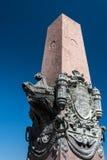 Statue devant le musée de MAS, Anvers, Belgique Photographie stock