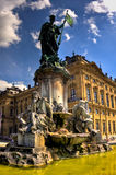 Statue devant le palais de Wurtzbourg Images stock