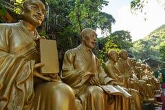 Statue di Buddha al monastero di Buddhas di diecimila in Hong Kong Immagine Stock Libera da Diritti