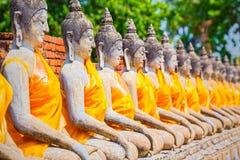 Statue di Buddha a Ayutthaya, Tailandia Nel 1767, la città era dest Fotografia Stock Libera da Diritti