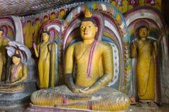 Statue di Buddha in Dambulla, Sri Lanka Immagine Stock Libera da Diritti