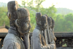 Statue di Khai Dinh Mausoleum Fotografia Stock Libera da Diritti