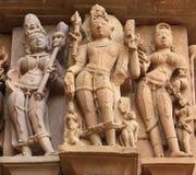 Statue di Khajuraho Fotografie Stock
