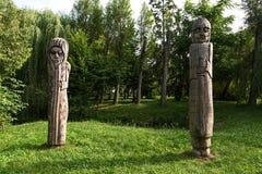 Statue di legno fotografie stock libere da diritti