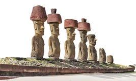Statue di Moai Fotografia Stock Libera da Diritti