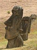 Statue di Moai sull'isola di pasqua Fotografie Stock