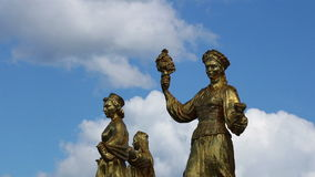 Statue di Mosca VDNH stock footage