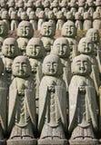 Statue di pietra di Jizo Fotografia Stock Libera da Diritti