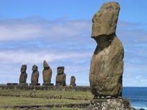 Statue di pietra, isola di pasqua immagine stock libera da diritti