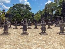 Statue di pietra, Khai Dinh Tomb imperiale, tonalità, Vietn immagine stock libera da diritti
