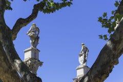 Statue di Twoo ed un tre immagini stock libere da diritti