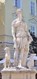 Statue of the Diana, the goddess of nature and hunting in lvov, Royalty Free Stock Images